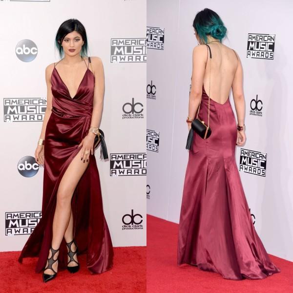 Acheter Kylie Jenner Red Carpet Robes Bourgogne Robe De Bal