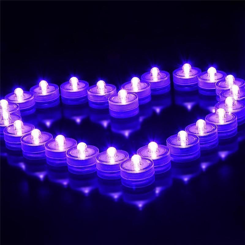 Waterproof LED Submersible Candles Tealight Lamp Fish Tank Vase Decor Lighting For Wedding Birthday Party Bar Decoration
