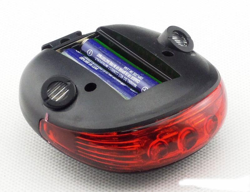 2014 Yeni Yol Bisiklet Lazer Kuyruk Işık Bisiklet Güvenlik Geri Arka LED Işık Arka Lambası 5 LED 2 ile Lazer Launcher Mavi / Kırmızı Işık