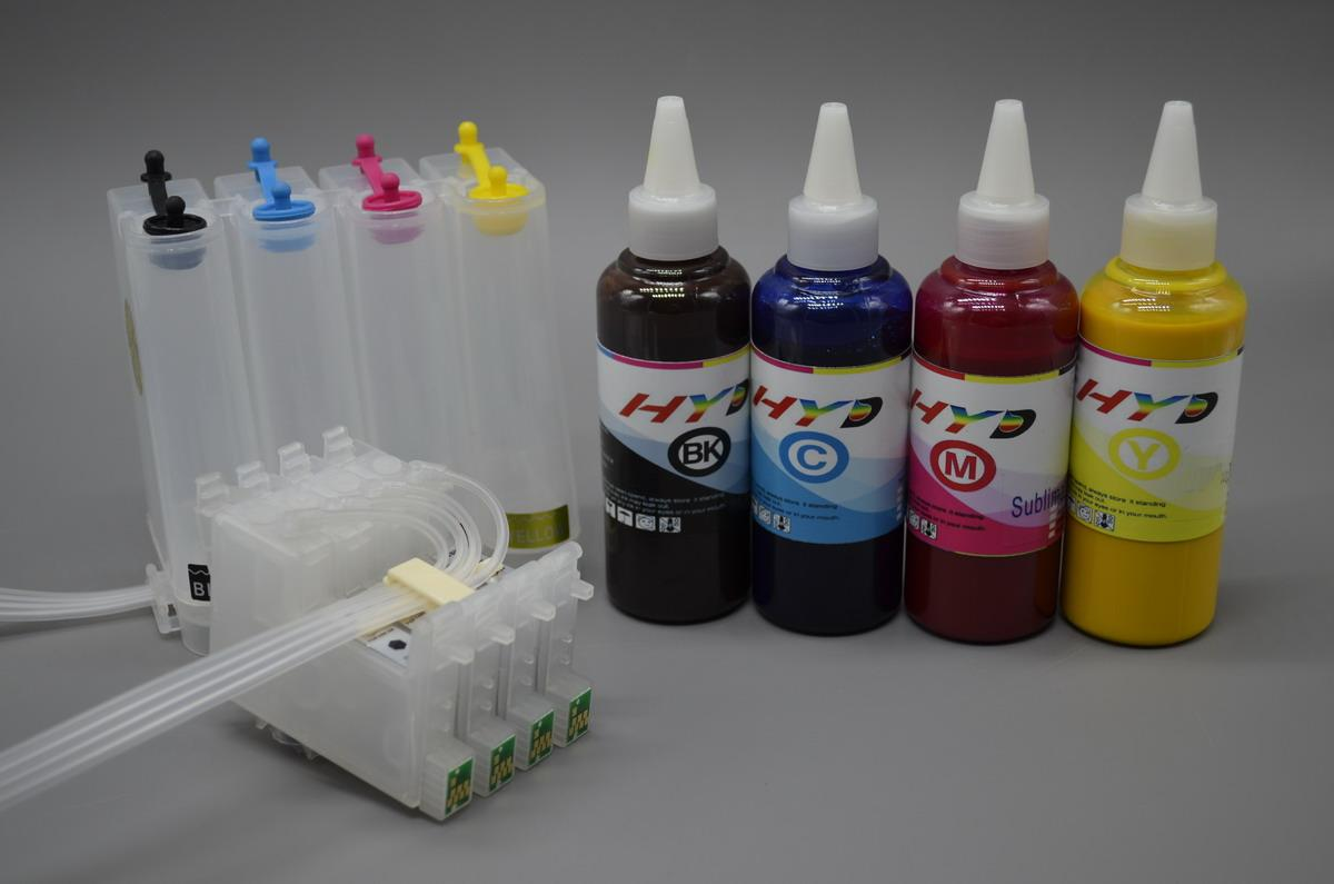 Bulk Ink System BIS for Epson Stylus C88 + Set of Dye Sublimation ...
