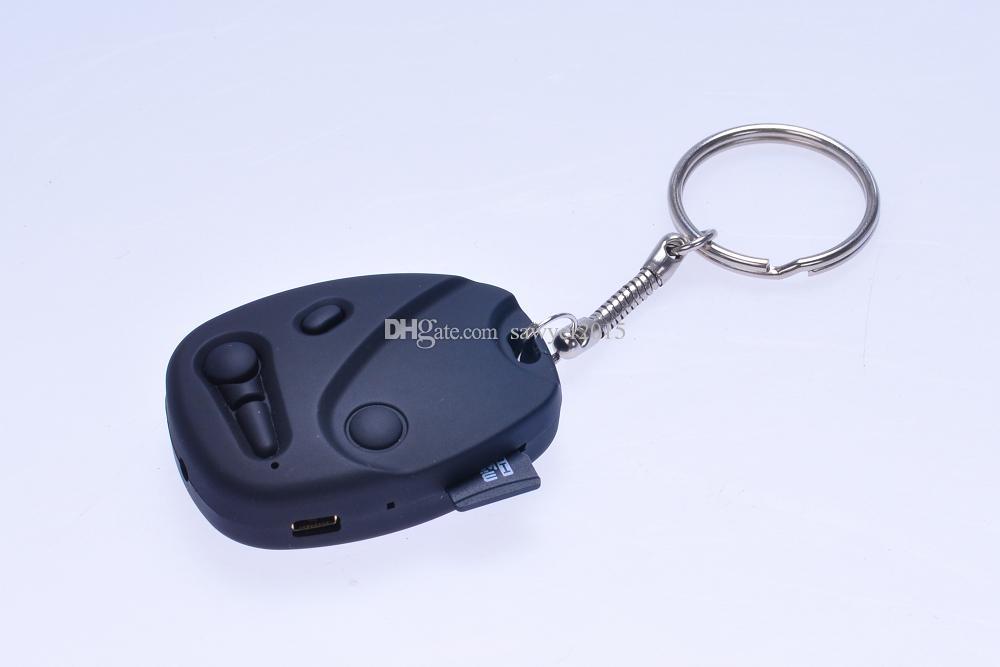 HD 720P 30 fps mini Car Key cámara DVR grabadora de video de audio digital portátil llavero de coche cámara de poros soporte TF Tarjeta en caja minorista
