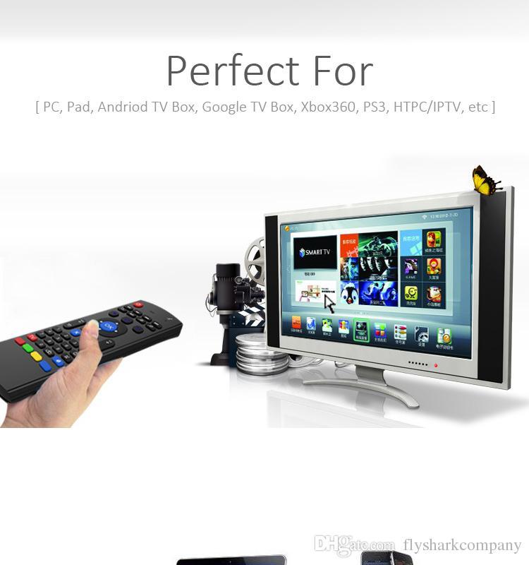 Mini X8 Wireless Keyboard Fly Air Mouse Remote G Sensing Giroscopio Sensori MIC Combo MX3 mouse wireless film gratis android free tv box