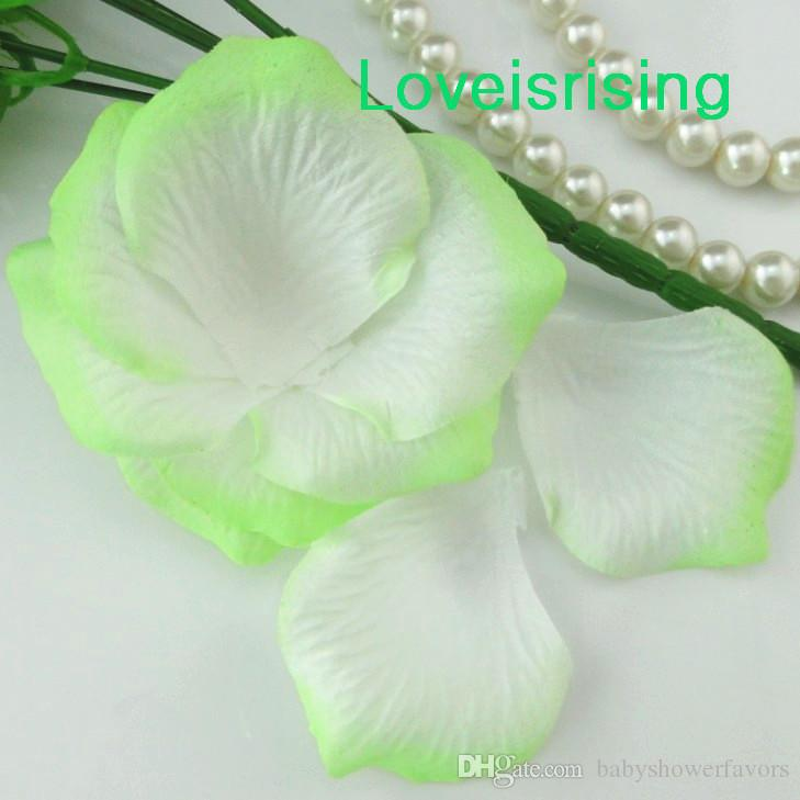 5 Packs Pale Green Non Woven Fabric Artificial Rose Flower Petal For