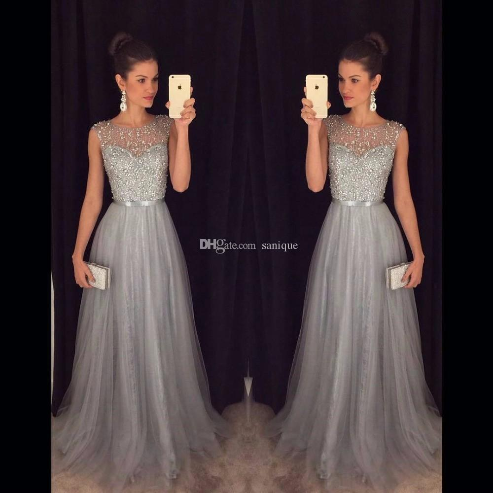 Vestidos China Grau Kaufen Abendkleider Pailletten Perlen Lange Baile Kleid Aus De A 2018 Formelle Direkt Tüll Line Kleider UpqMSzGV