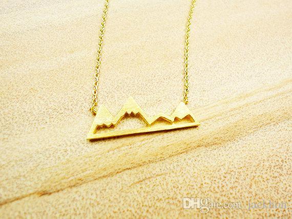 - N015 Симпатичные Снежное Mountain Top Range ожерелья Простой современный минималистский ожерелье Природа Париж Пейзаж ожерелье для женщин