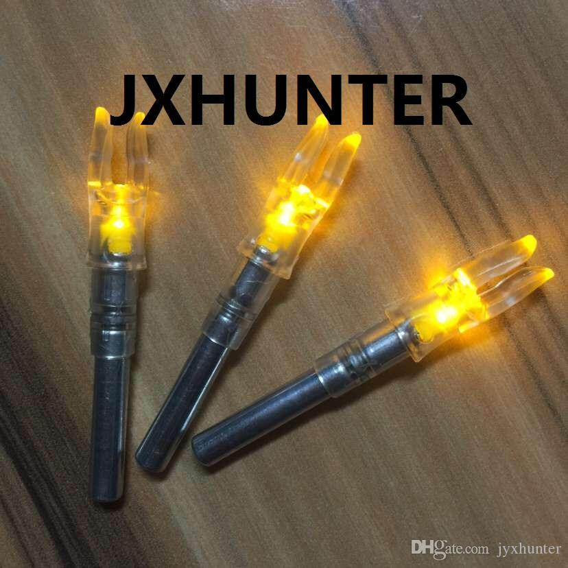3PK Archery hunting compound bow carbon arrow tails lighted led light arrow nock for ID 6.2mm arrows