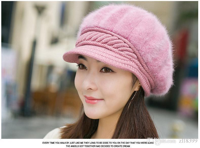 df86098d1 2019 2017 Winter Beanies Berets Knit Women'S Hat Winter Hats For Women  Ladies Beanie Girls Skullies Caps Bonnet Femme Snapback Wool Warm Hat From  Zll8399, ...