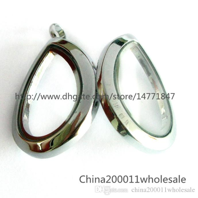 Drop Living Floating Memory Glas Medaillon für Medaillon Armband / Halskette DIY Charme für Llocket
