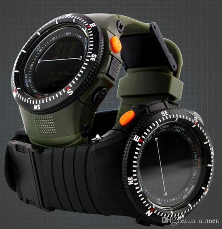 c88ea6d3e26 2015 Hot venda Homens Relógios militares relógios de esportes LED Digital  Multifuncional Exército 50M impermeável mergulho subindo Relógios de pulso  ...