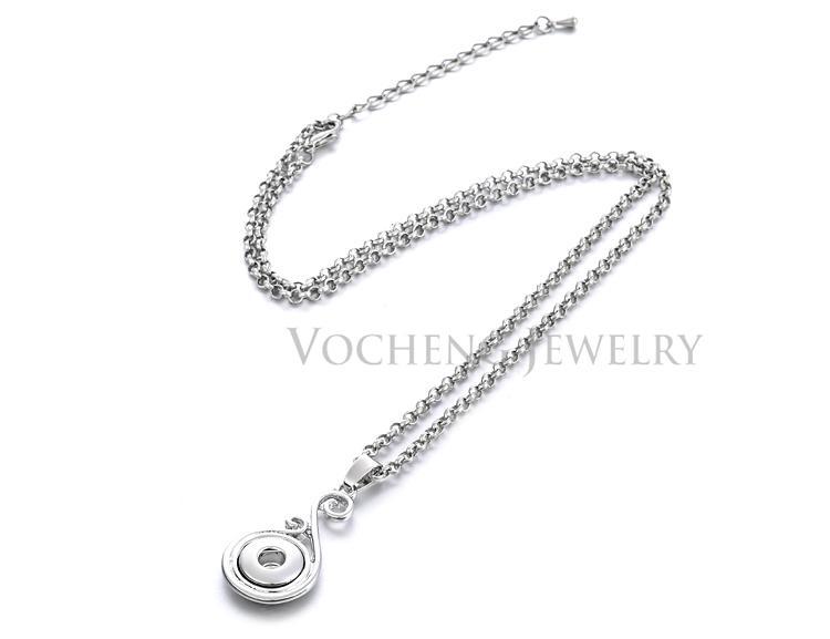 Vocheng Piccolo NOOSA 12 millimetri piccolo pezzo Snap Noosa Collana fai da te Nosa gioielli di moda con catena in acciaio inox NN-018
