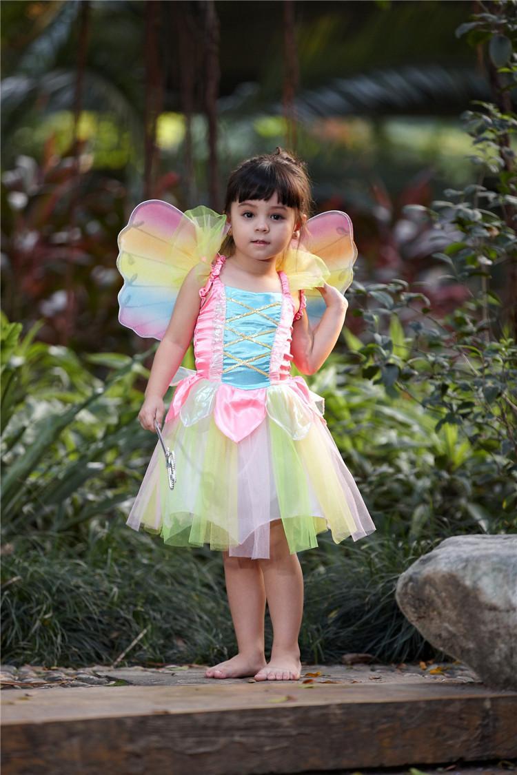 2017 Pink Flower Fairy Dance Princess Performance Flowers Skirts ...