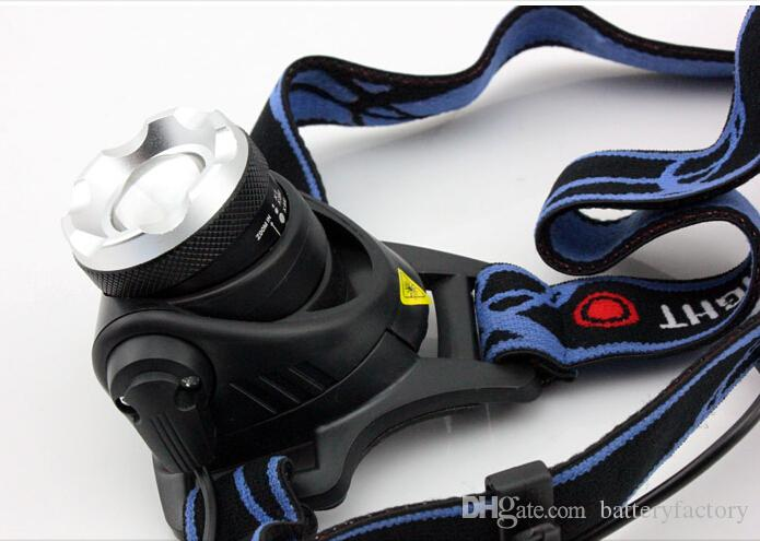 Top qualité 2000 Lumens phare CREE XM-L T6 LED phare pour 18650 lampe frontale torche LED lampe de poche lampe frontale V9 T6 + Livraison gratuite