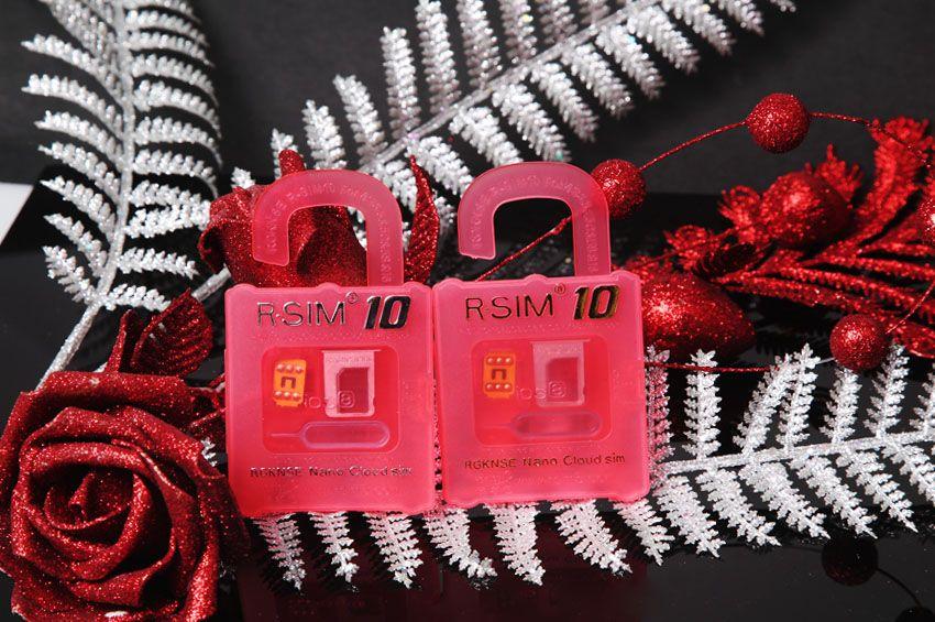 R-SIM 10 RSIM10 R-SIM10 Perfect Déverrouiller la carte SIM officielle IOS 6.x-8.x RSIM 10 d'origine pour iPhone 6 plus I6 5S 5C 5 4S GSM CDMA WCDMA 3G 4G