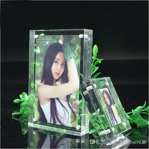 2018 4x6 Free Standing Acrylic Perspex Photo Frames With Magnetic