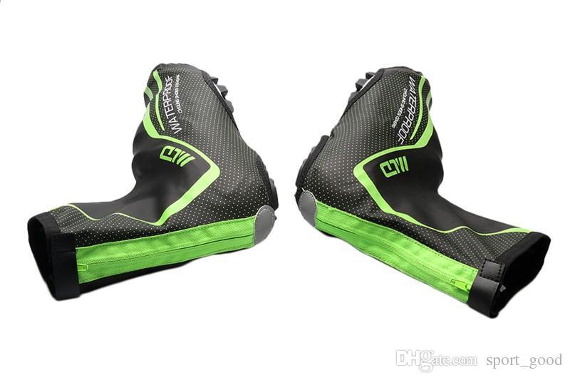 Zapatos para montar en bicicleta al aire libre cubierta cubierta de zapatos a prueba de agua caliente calzado para ciclismo equipo para montar cubierta de zapatos de PU