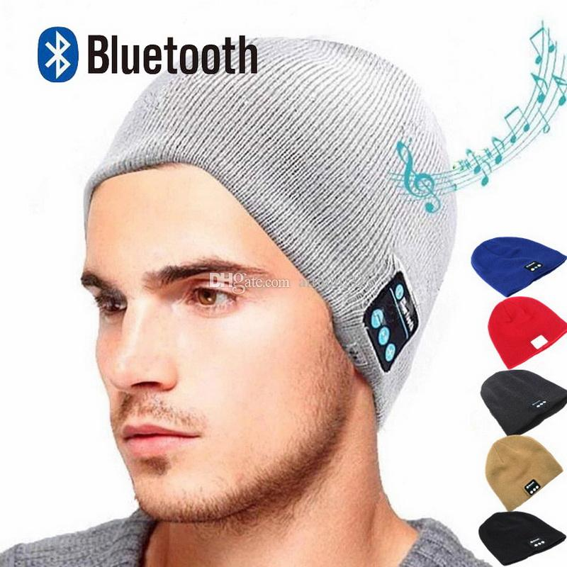 82de714e9ef Bluetooth Beanie Hat Headphones Washable Winter Knit Cap With Stereo  Bluetooth Headset Earphones Speakers   Mic For IPhone Samsung Android  Bluetooth Devices ...