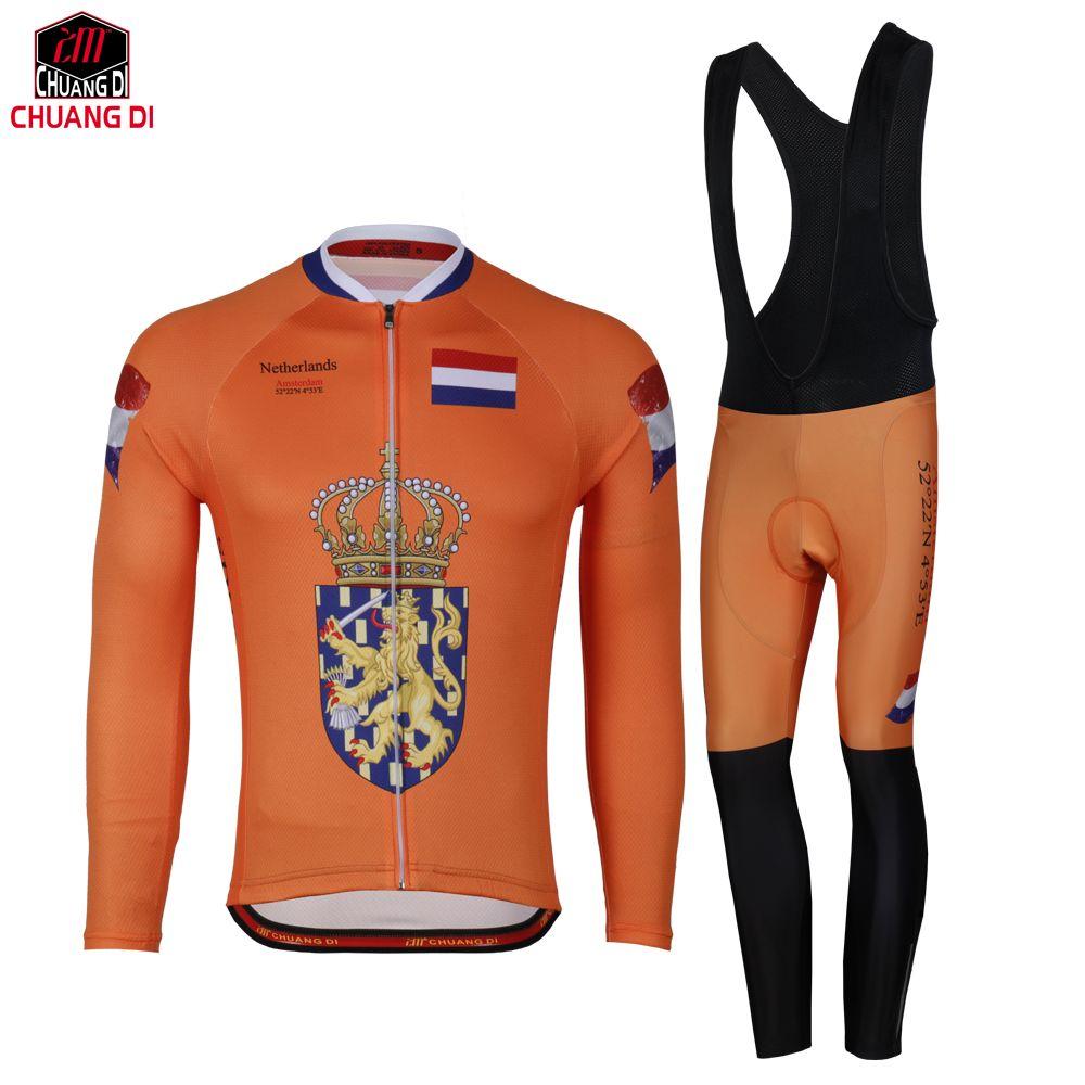 Netherlands Cycling Clothing cycling Uniform Bike Cycling Jersey MTB ... 09131ed5c