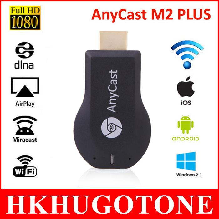 HD 1080P AnyCast M2 Plus Airplay Wifi Display TV Dongle Receiver DLNA Easy  Sharing Mini TV Stick for windows ios andriod TV Stick