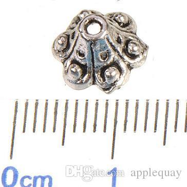 حبات معدنية قبعات الفضة لصنع المجوهرات الخرز خمر العتيقة جديد النتائج مجوهرات الأزياء ديي والاكسسوارات نهاية قبعات 8 * 5MM