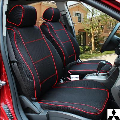 Special Thicken Car Seat Covers ASX Lancer Zinger FORTIS Outlander Grandis Pajero Accessories CAN ADD LOGO Grey Red Black Mitsubishi