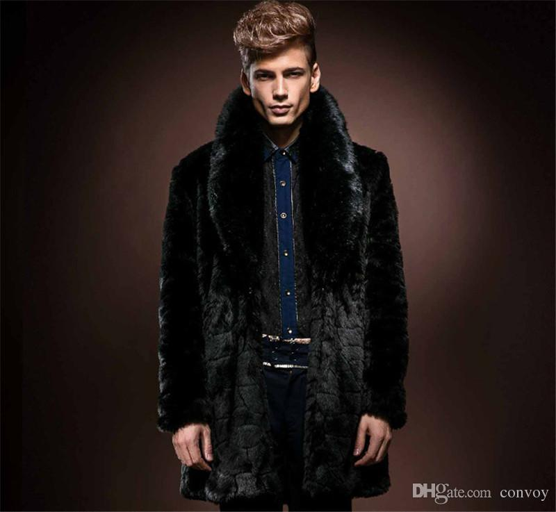 Discount Faux Fur Coat Mens Xxxl | 2017 Faux Fur Coat Mens Xxxl on ...