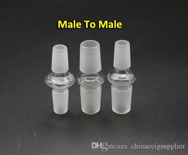 Glass Adapter 12 Styles Female Male Joint 10mm To 10mm, 14mm To 14mm, 14mm To 18mm Glass Adapters For Oil Rigs Glass Bongs