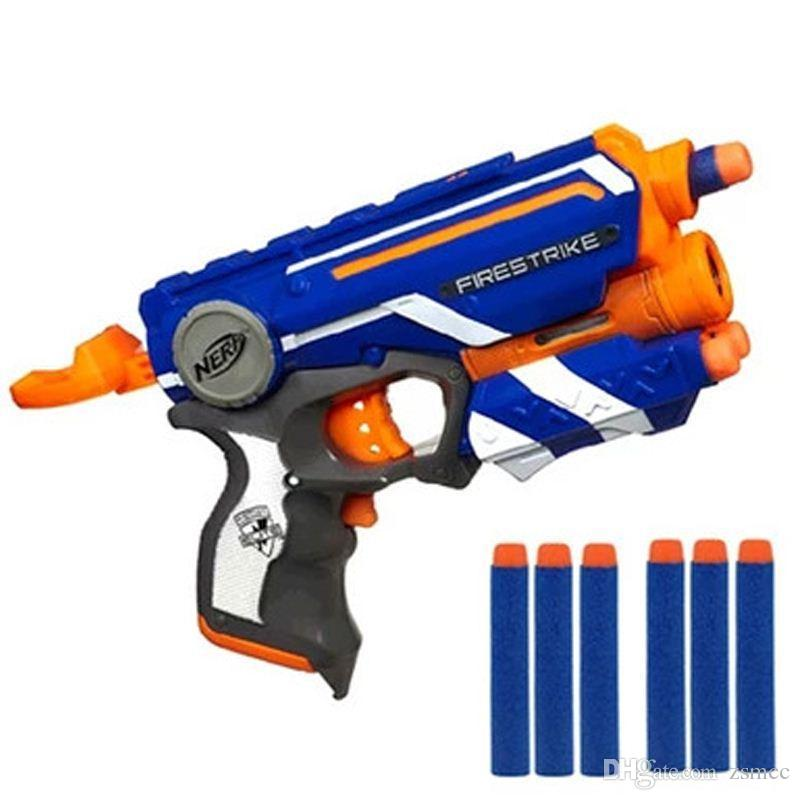 2018 Nerf Elite Hot Fire Strike Safe Soft Bullet Toy Gun & 6 Soft Bullets  Manual Operated Gun Toy 20m Gunshot Range Christmas Toy From Zsmcc, ...