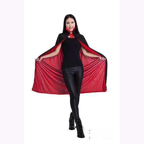 Nuevo Halloween Vampire Black Red Cape Unisex Adultos Niños Collar Cloak Party Club Carnaval Disfraz