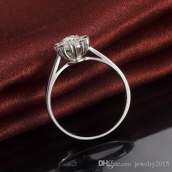 100%925 silver 1 ct cushion cut simulated diamond halo engagement rings for women jewelry,18k white gold plated Wedding ring