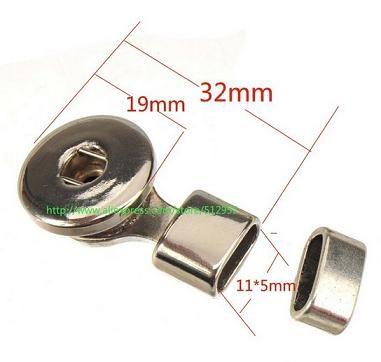 diy moda snap jóias descobertas e componentes de metal do vintage ganchos de prata fechos para pulseiras noosa alterna novo 35 * 19mm