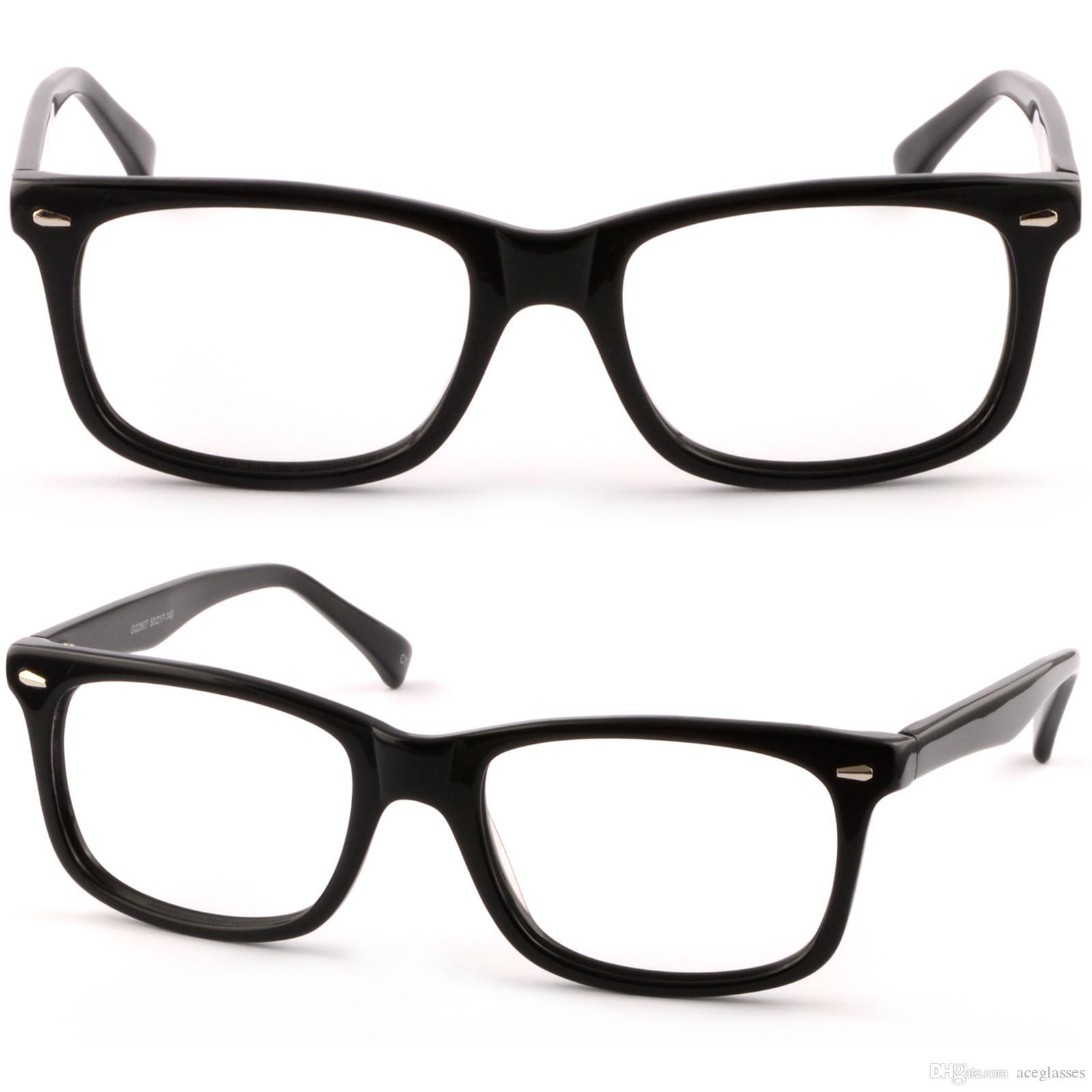 Rectangular Womens Acetate Frames Prescription Glasses Lenses Shiny ...