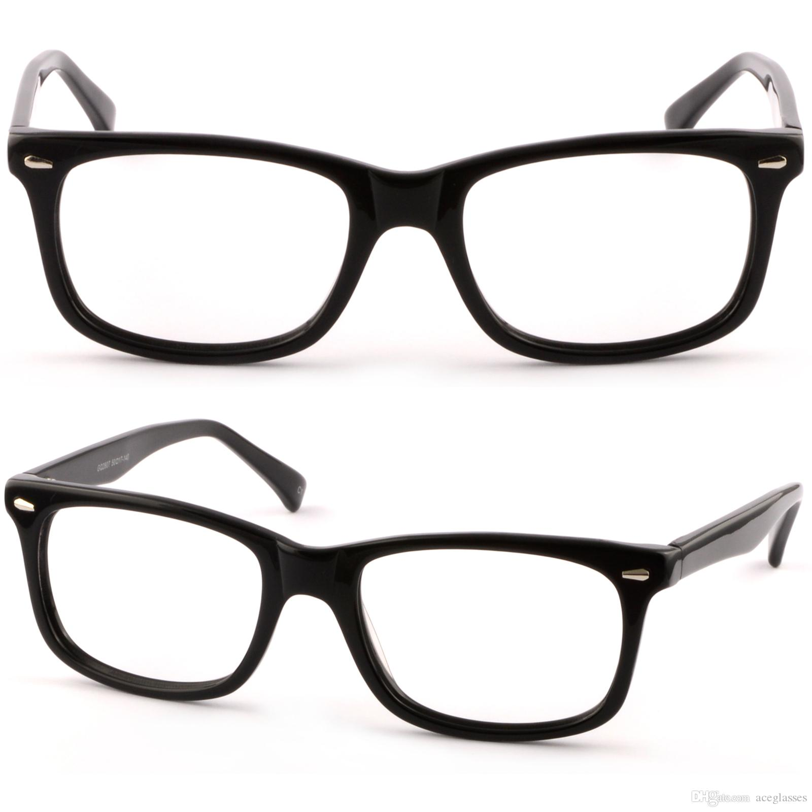 885f6777622 Rectangular Womens Acetate Frames Prescription Glasses Lenses Shiny Pieces  Black Designer Eyeglass Frames Online Discontinued Eyeglass Frames From ...