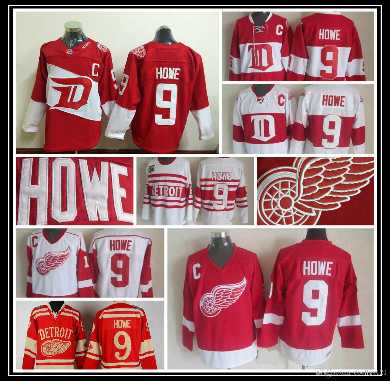 0b423305c8a ... 2018 throwback 9 gordie howe jersey cheap detroit red wings jerseys red  vintage winter classic red