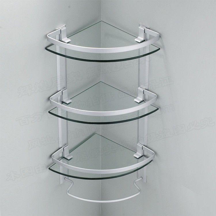 Acheter Aluminium 3 Niveaux Étagères Support Étagère En Verre De ...
