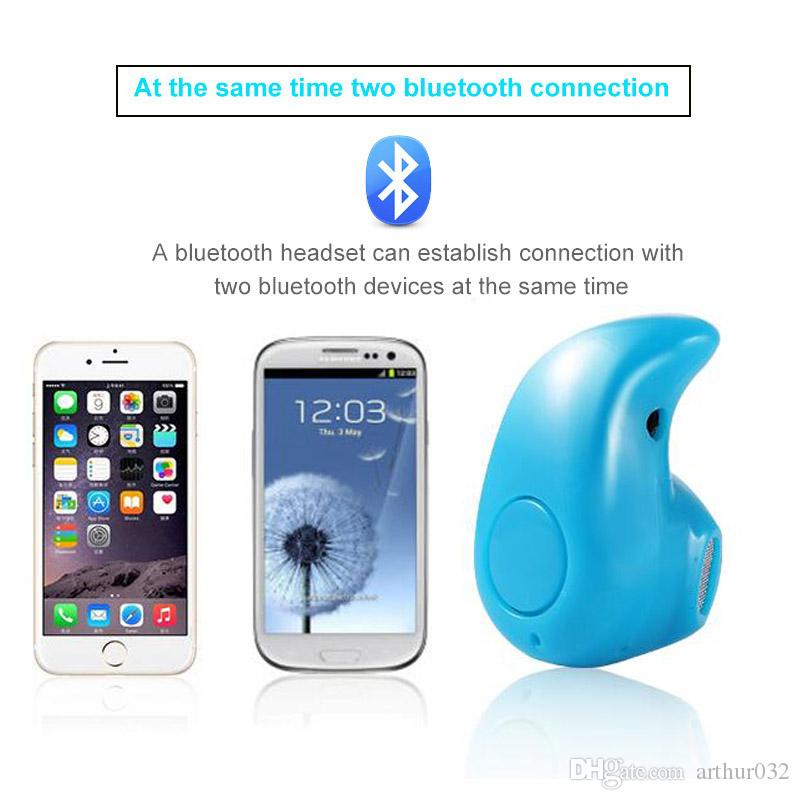 S530 Mini Auricular Bluetooth Inalámbrico Estéreo Light Stealth Auriculares Auriculares Auriculares Con Mic Ultra-pequeño Oculto Universal Para iPhone Samsung