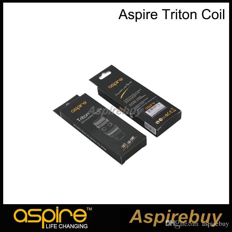 100% Original Aspire Triton Coil RBA Replacement Coil with Japanese Organic Cotton 0.3 0.4 1.8 ohm Coil for Triton Tank