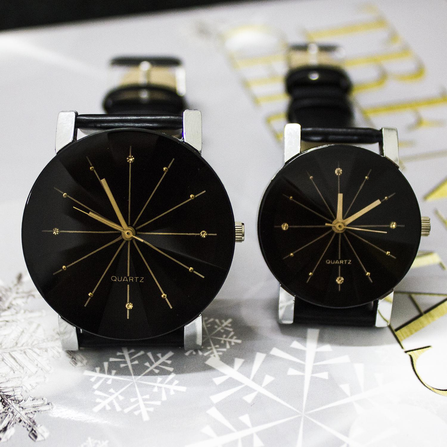 2015 New Arrival Fashion Casual Leather Watch for Lovers Character design Quartz Valentine Watches Asymmetrical Design Couple Watch