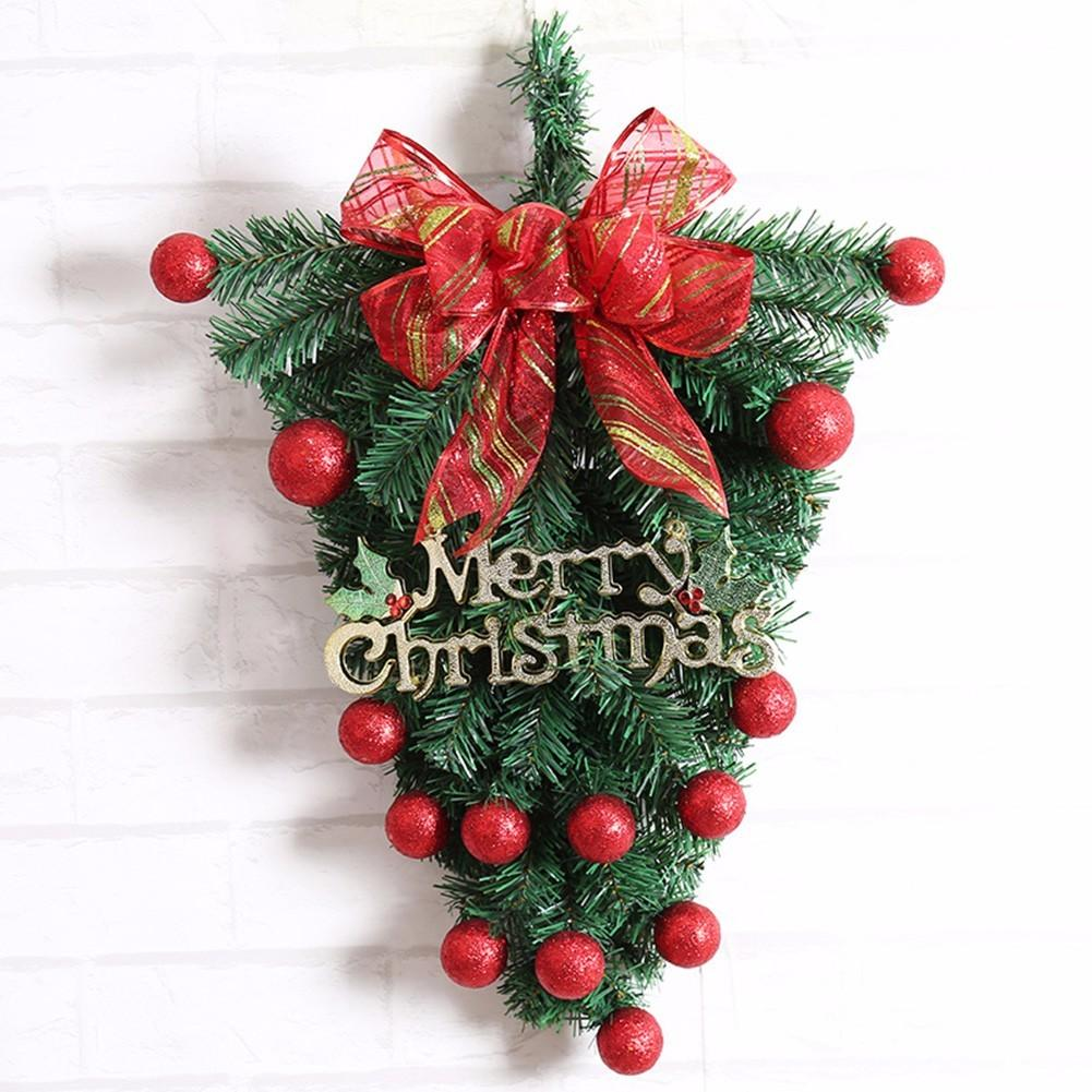 creative handmade upside down christmas tree hanging ornament wedding christmas party decoration 4360 cm christmas toys for toddlers hottest christmas toys