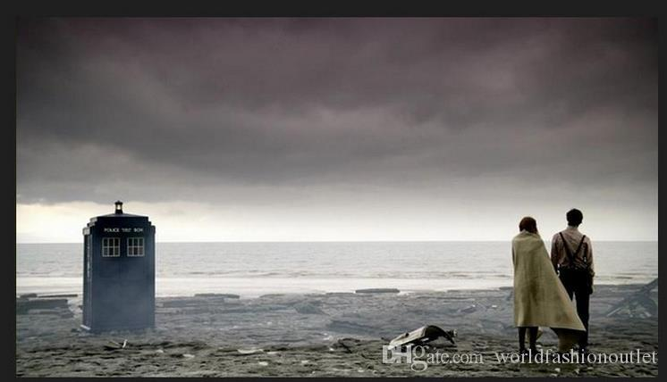 Doctor Who 3D pendente fascino a lunga catena Dichiarazione TARDIS polizia pubblica Casella di chiamata dell'annata della collana bambini dai i liberano la nave DHL