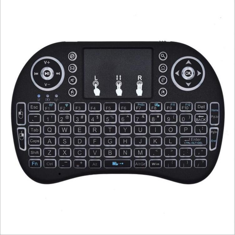 Rii Mini i8 Teclado Sem Fio Bluetooth Teclados Touchpad jogo Fly Air Mouse Controle Remoto Multi-media Handheld navio livre