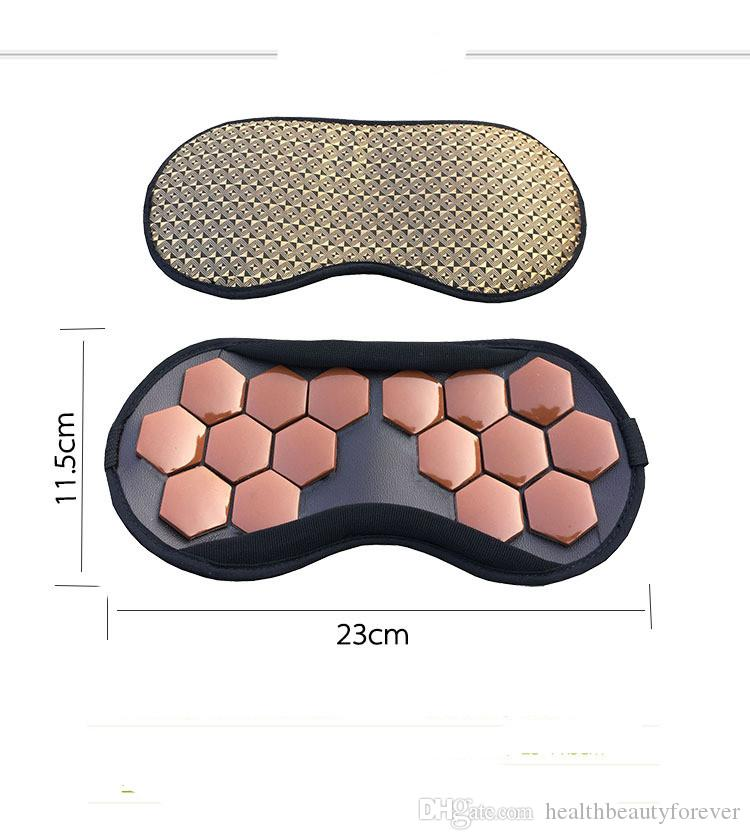 Ms tomalin germanium stone massage goggles electric magnetic therapy health massage patch shading sleep an eye mask