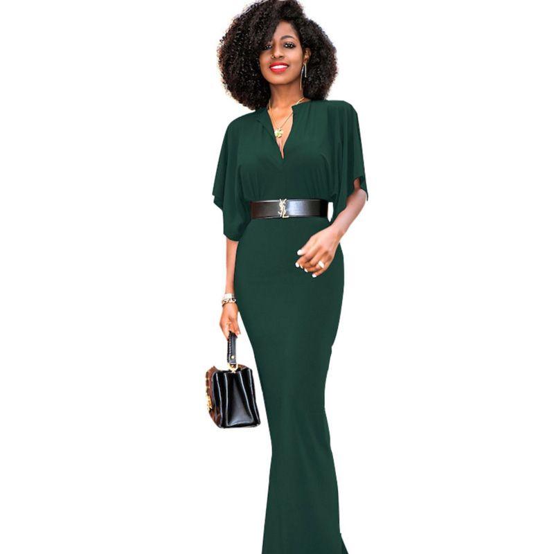 Plus Size Sexy V Neck Long Maxi Tunic Party Dresses 2017 Fashion ...