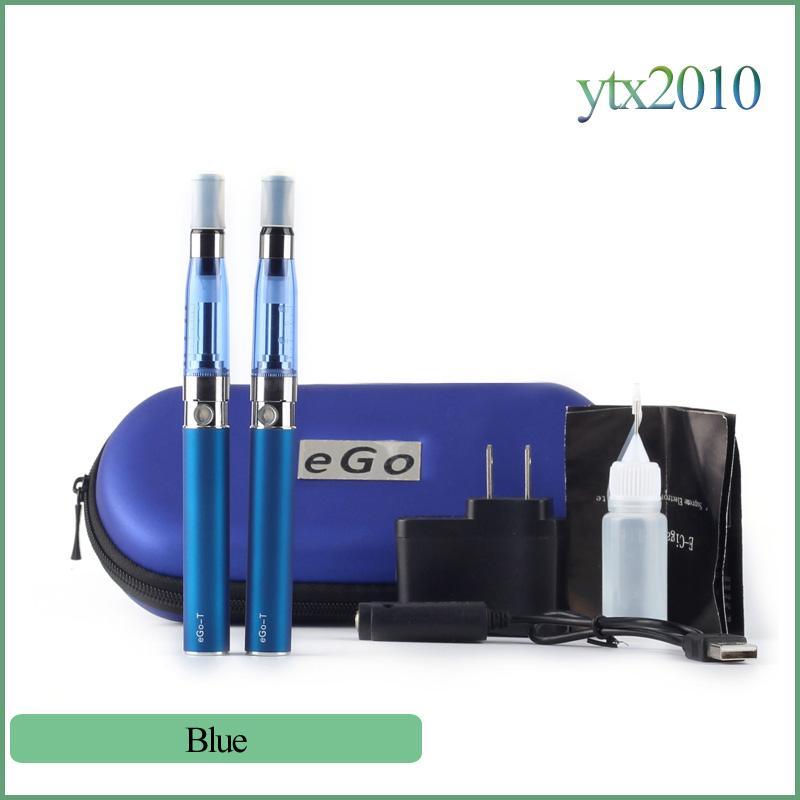 Ce5 double starter kit with ego t battery Electronic Cigarettes 1.6ml no wick Ce5 Vaporizer Ego t Double Zipper Case E cigarette