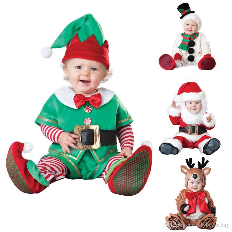 e6ed5f695fd59 Acheter Petit Enfant De Noël Bébé Toddler Père Noël Costume De Fantaisie  Costume Festif Complet Renne