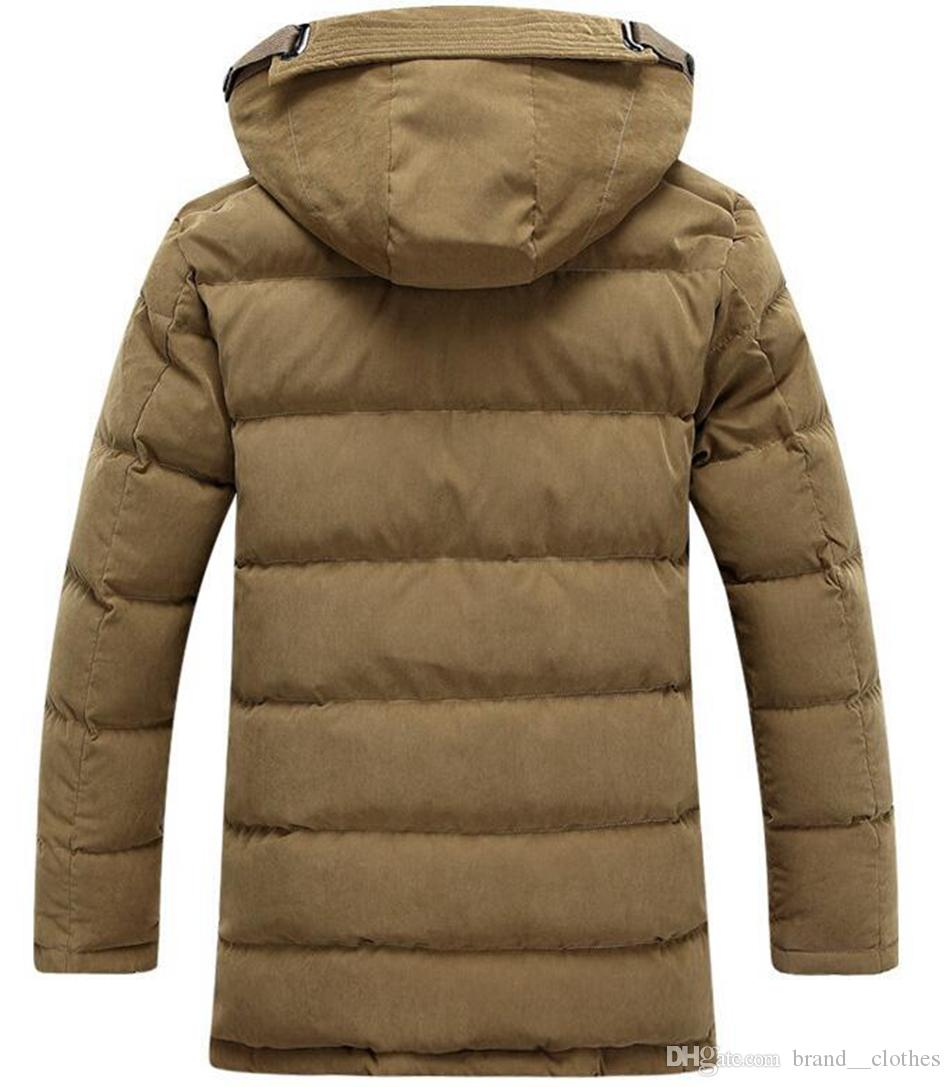 Men's fashion authentic new thickening warm white duck down down jacket warm special coat of cultivate one's morality. S - 3 xl