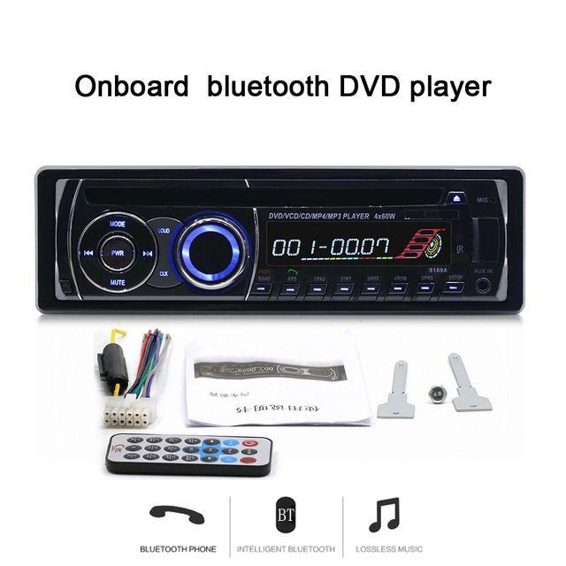 New 12V Bluetooth Car DVD Player Stereo FM Radio MP3 Player Car radio  In-Dash one DIN DVD CD Player Vehicle Radio 8169A