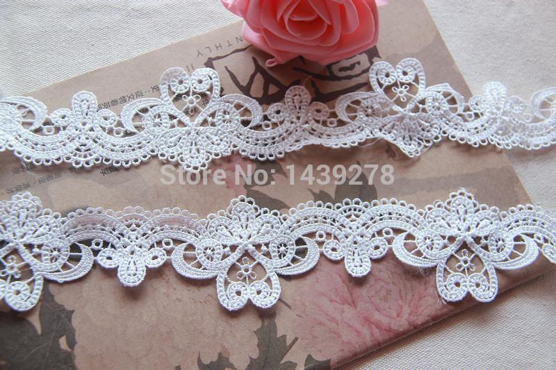 Beaded lace applique with pearl beaded lace motif venice lace
