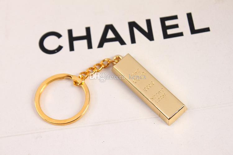 Corrente chave de ouro puro chaveiros de ouro chaveiros mulheres bolsa encantos pingente de metal key finder homem de luxo chave do carro anéis acessório presente