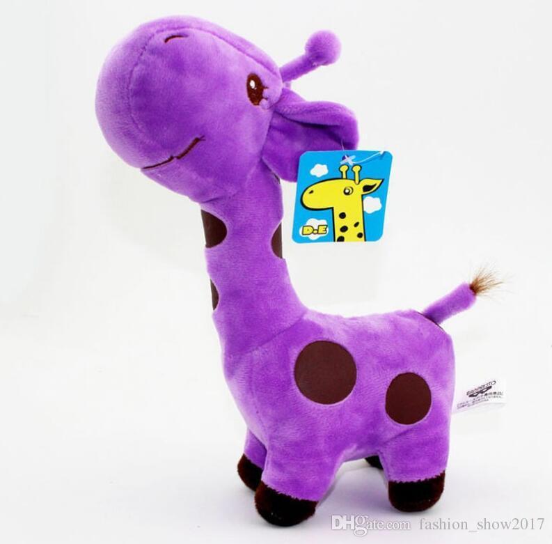 Novo Bonito Girafa De Pelúcia Macia Brinquedos Animal Caro Boneca Bebê Crianças Presente de Aniversário para Crianças 6 Cores para Escolhas