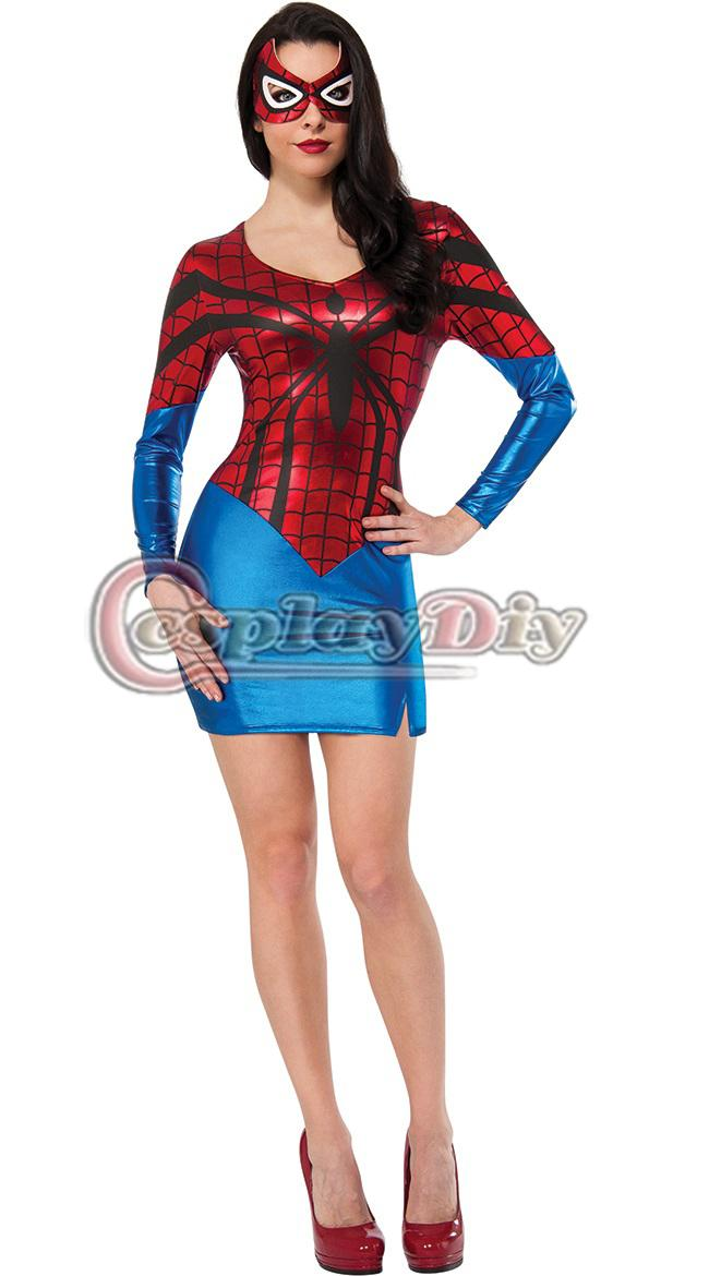 2018 Adult Women Spiderman Costume Bodysuit Sexy Fantasia Costume Halloween Carnival Costume Suit One Size From Cosplaydiy $24.64 | Dhgate.Com  sc 1 st  DHgate.com & 2018 Adult Women Spiderman Costume Bodysuit Sexy Fantasia Costume ...